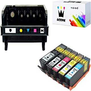 AceInk 1 Pack 5-Slot HP564 Printhead + 5 Packs HP564XL Ink Cartridges Compatible for HP564 Work for HP B209a B210b B210c B210d C510a 3521 3522 3526 3070A 5510 5512 5514 4610 Printers