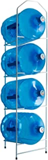 dispensador agua org Botellero metálico Capacidad para almacenar hasta 4 botellones,Estanteria Blanca, estanteria para Botellas, estanteria botellones, estanteria Metal-Blanca