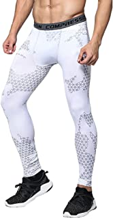 LINGMIN Men's Printed Dry-Fit Baselayer Pants Legging Camo Compression Running Tights