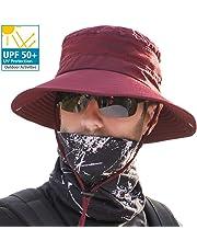 サファリハット メンズ 【メッシュ通気構造 UVカット UPF50+】 ハット 帽子 つば広 大きいサイズ 速乾・軽薄・通気性抜群・紫外線対策・折りたたみ あご紐付き アウトドア 釣り ハイキング 登山 レディース 男女兼用