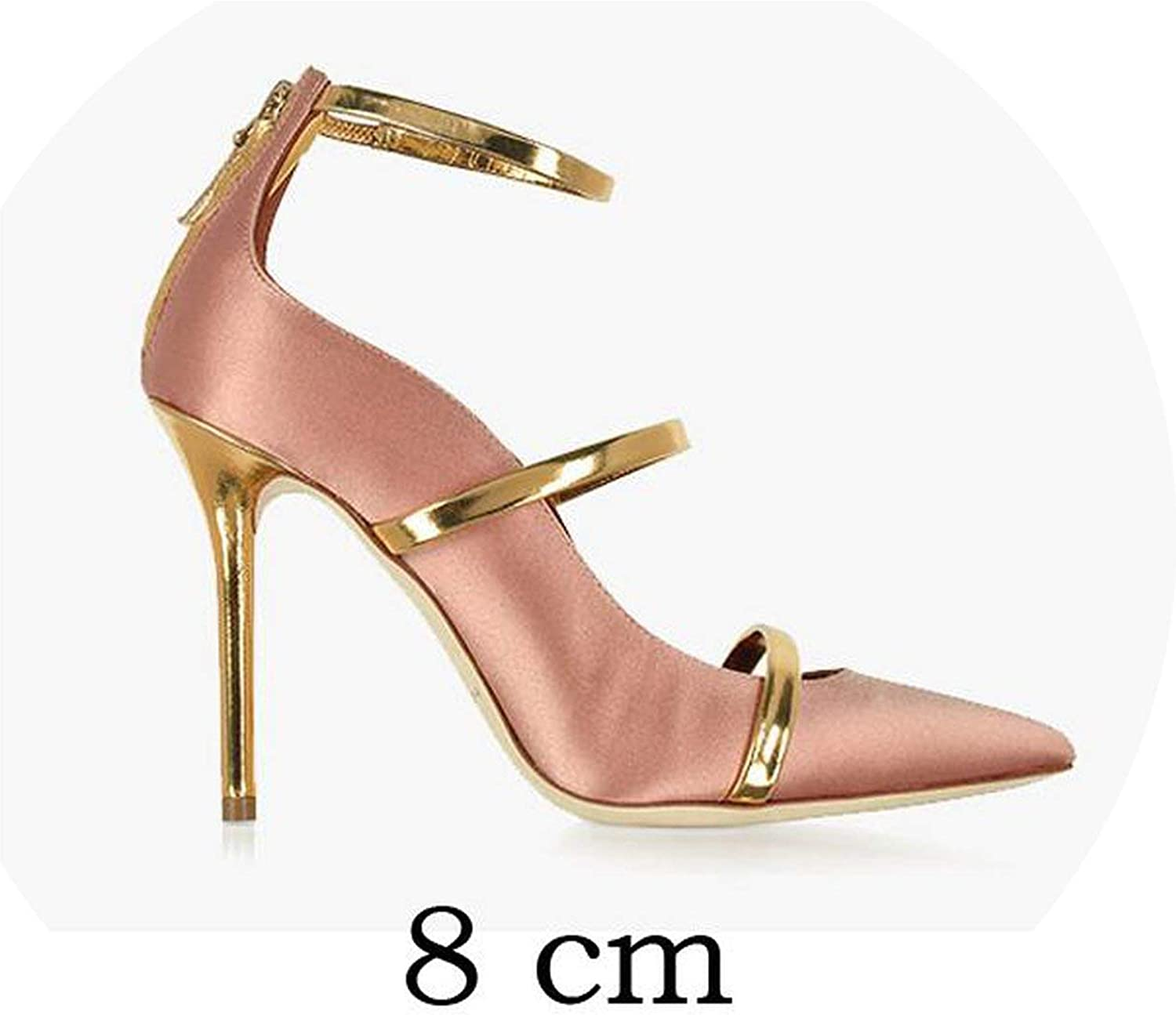 Straps Pointed Toe High Heel Wedding Dress shoes Stiletto Gladiator Pumps