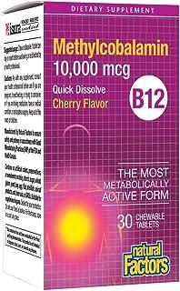 B12 Methylcobalamin 10,000 mcg Natural Factors 30 Chewable