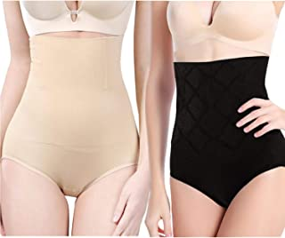 2-Pack Ultra High Waist Body Shaper Slimming Panties 360 Tummy Control Stomach Trimmer Shapewear Butt Lifter Body Shaper