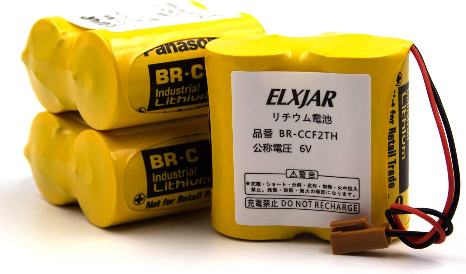 3-Pack BR-CCF2TH 100% quality warranty Courier shipping free shipping 6V Lithium Replacement M oi Battery for Fanuc