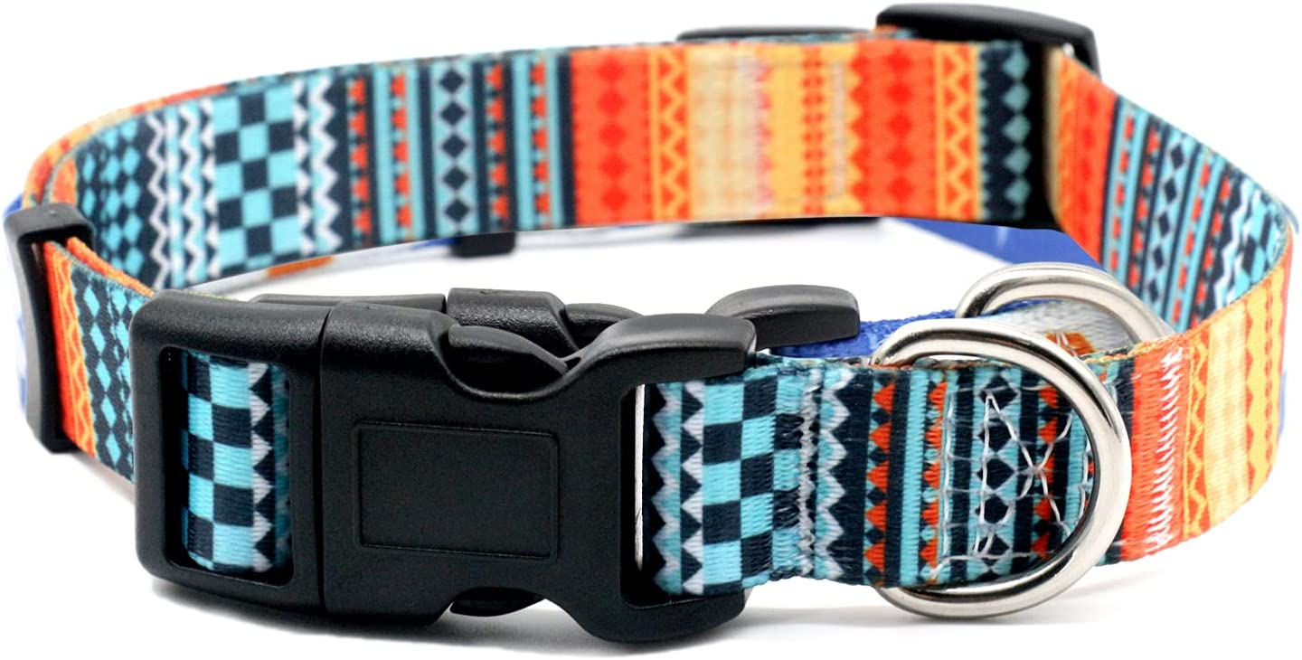 Cozilanz Dog Collar Floral Print Buckle Ranking TOP6 Pet Coll Adjustable Max 48% OFF Soft