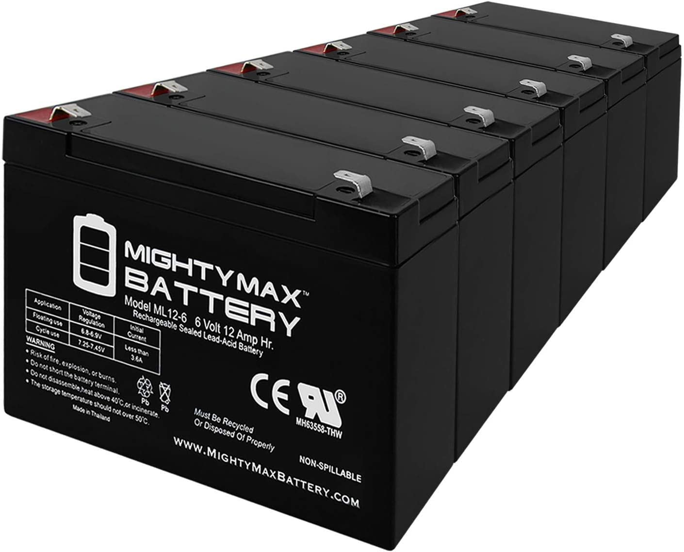 Mighty Max Battery 6V Seattle Mall 12AH Daily bargain sale F2 45 Replacement SLA APC for