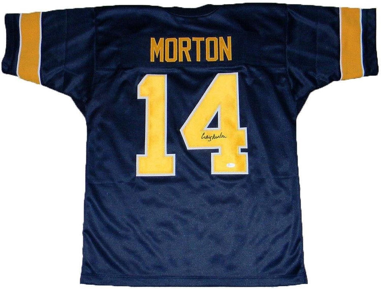 Craig Morton Autographed Jersey  Cal California golden Bears  14  JSA Certified  Autographed NFL Jerseys