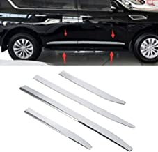 MotorFansClub Body Side Door Molding Cover for Infiniti QX56 QX80 2011-2018 Stainless Steel Protector Cover Trim