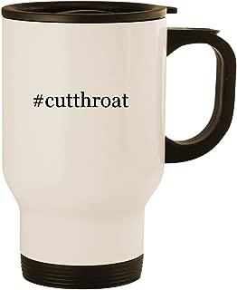 #cutthroat - Stainless Steel 14oz Road Ready Travel Mug, White