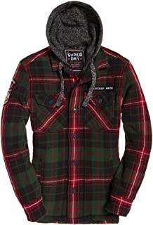 Mens Everest Storm Hooded Jacket Huron Green Check