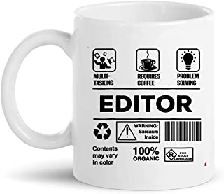 Funny Editor Cup Coffee Mug | Photo Designer Video Film Editing Audio Sound EditorsCoworkers Shirt Gift editor-in-chief journalist reporter Gifts for Women Men