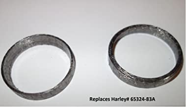 Orange Cycle Parts Tapered Exhaust Gaskets Pair (2) For Harley Big Twin 1984-2019/1986-2019 Sportster XL/Will NOT WORK on V-ROD repl. # 65324-83A