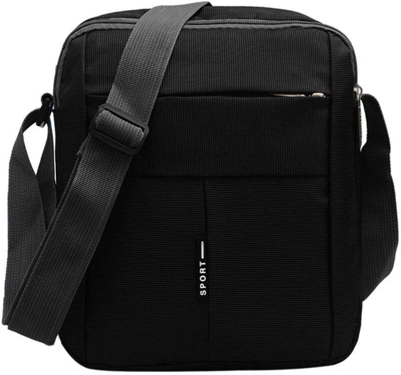 Bloomerang Aelicy Dropship New Unisex Solid Shoulder Bag Messenger Bag Handbag Casual Tote Zipper Bag Bolsa Feminina sac color Black