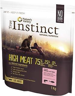 True Instinct High Meat - Pienso para Gatos Adultos con Salmón sin espinas y atún- 1 kg