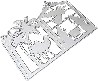 Fench Christmas Lantern Metal Cutting Dies Stencil, DIY Scrapbooking Album Stamp Paper Card, Embossing Crafts Decor