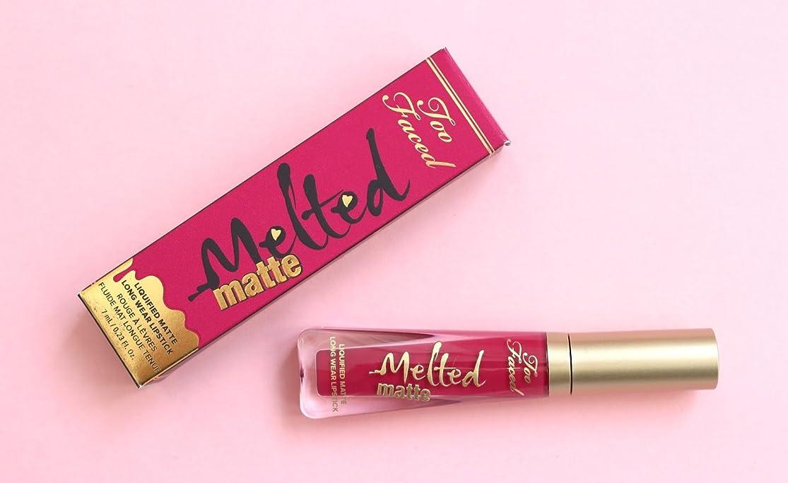 ペレット童謡できたToo Faced Melted Matte Liquified Long Wear Matte Lipstick - Bend and Snap!