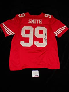 Aldon Smith San Francisco 49'Ers Autographed Signed Red Stitched Jersey PSA/DNA COA Sale