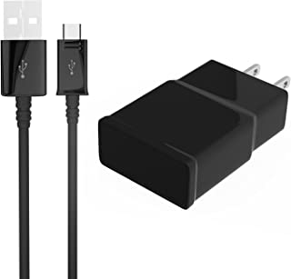 Elecmark Travel Wall Charger and 5 Feet Micro Data Sync Cable for Samsung Galaxy S2, S3, S4, Note 2, 4 (Black)