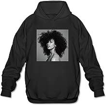 003NATIEBNA HERE Blended Family Hooded Sweatshirt Black for Men