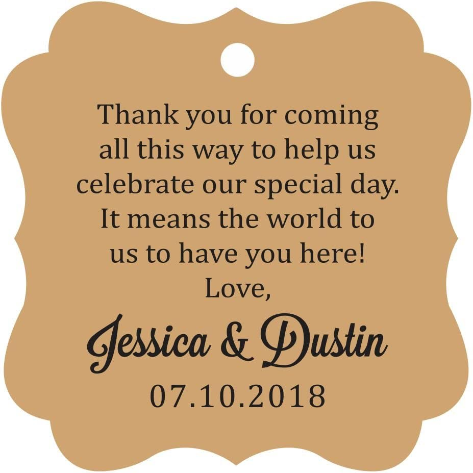 Darling Special Campaign Atlanta Mall Souvenir Custom Wedding Thank Message You Gift Pers Tags