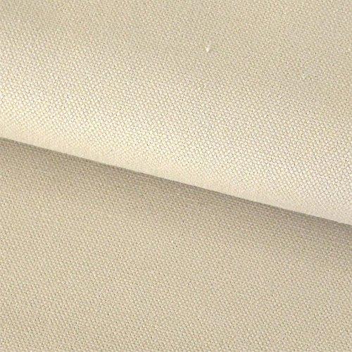 Stoff Meterware Baumwollstoff Canvas Panama Baumwolle stabil beige camel