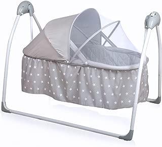 Baninni Babywippe mit Spielbogen Grau Babyschaukel Schaukel Wippe Wiege Liege