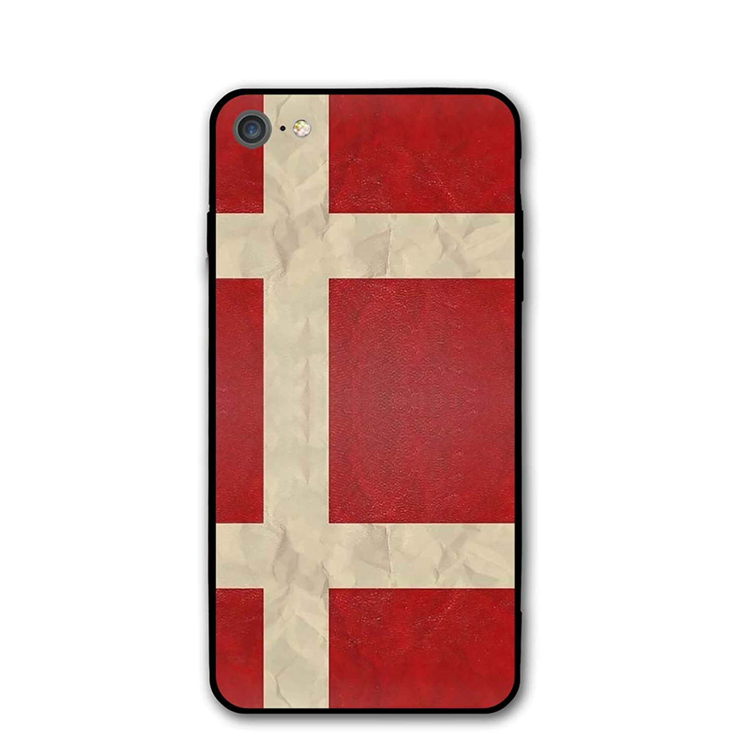Danish Flag Street Fashion IPhone7/8 Case£? Cute Slim Flexible Soft TPU Rubber Cases Cover for iPhone 7/8 Anti-Collision Case 4.7 Inch Shock Absorption/Impact Resistant