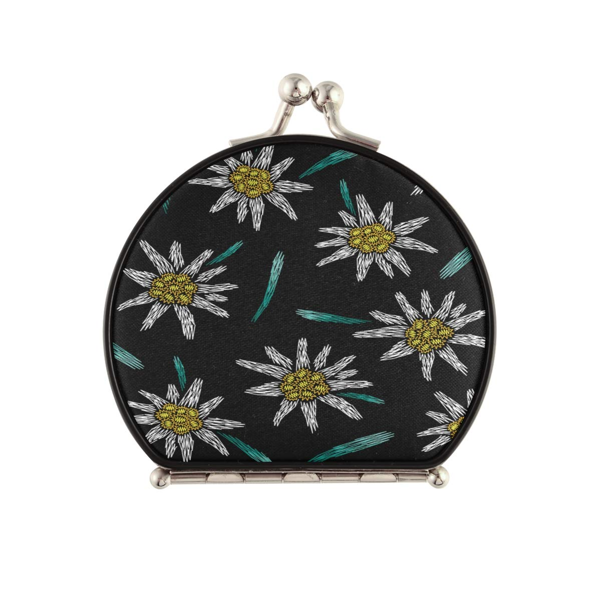 Magnifying Compact Cosmetic Mirror Pattern Sale item Ede Selling Floral Embroidery