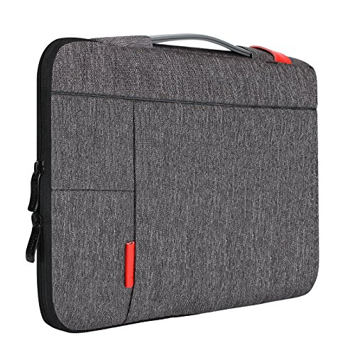 iCozzier 13-13.3 Inch Handle Strap Laptop Sleeve Case Protective Bag for 13' Macbook Air/Macbook Pro/Pro Retina Sleeve - Dark Gray