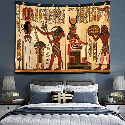 AdoDecor Tapiz de Dios del Sol Antiguo Egipto Dios religión tapices Colgantes de Pared para decoración del hogar Sala de Estar Dormitorio Pared Arte 150x130cm