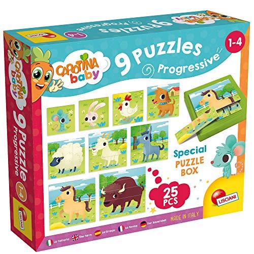 Lisciani Giochi- Carotina Baby Progressive The Fattoria Puzzle, Multicolore, 58440