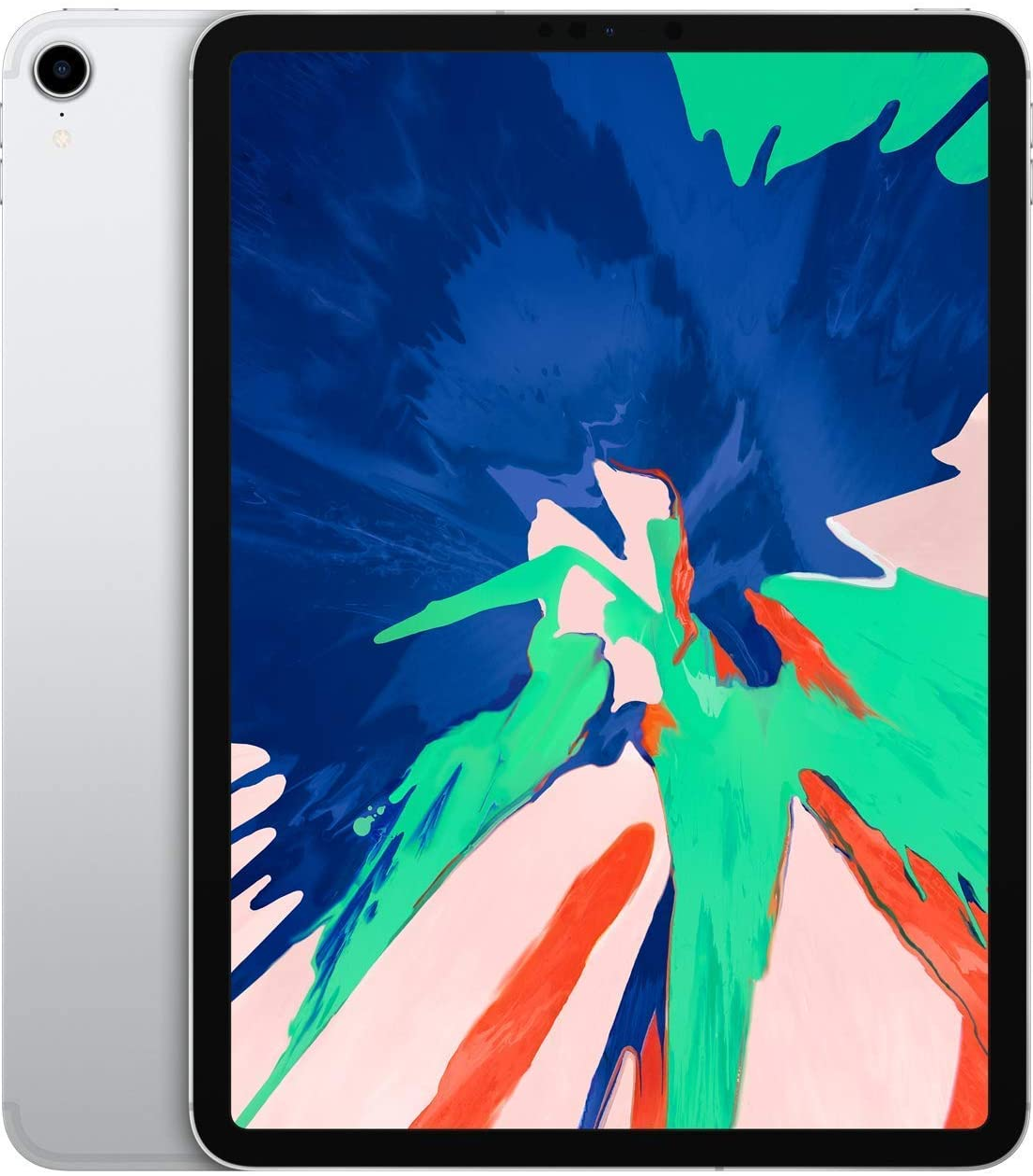 Apple iPad Pro 2018 (11-inch, Wi-Fi + Cellular, 64GB) - Silver (Renewed)
