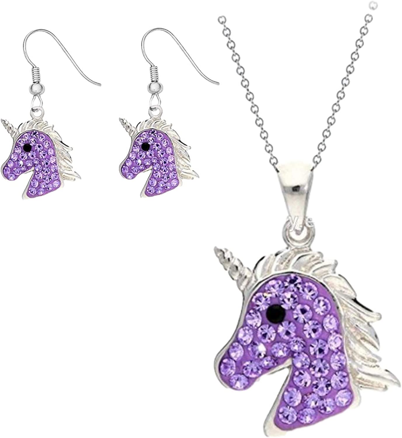 Magical Unicorn Zinc Alloy Fixed price for Selling sale Necklace Set Hypoallergeni Earrings