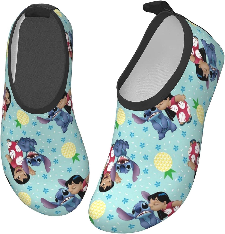 Stitch Kids Water Sports Shoes Lightweight Barefoot Non-Slip Aqua Socks Beach Swimming Surf Walking for Boys Girls