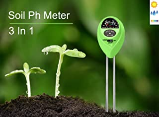 tinams Soil Ph Meter, Soil Ph Test Kit 3 in 1 Functional Testing Moisture, Light and Ph Value Care for Garden, Lawn, Farm, Gardening Tools for Indoor/Outdoors Plant Care