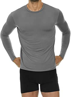 Thermajohn Mens Ultra Soft Thermal Shirt – Compression Baselayer Crew Neck Top – Fleece Lined Long Sleeve Underwear T Shirt