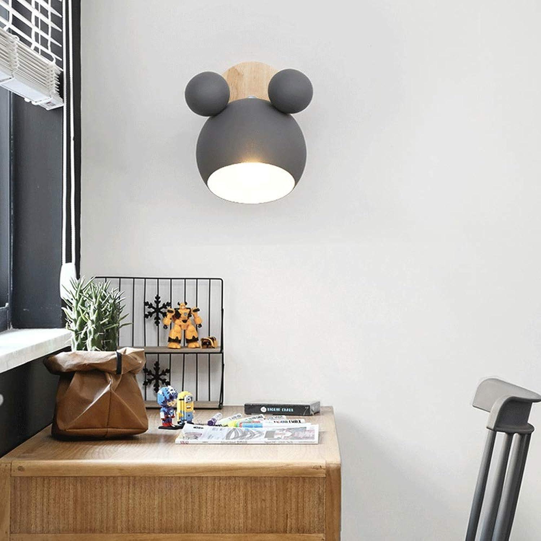Mopoq Nordic Schlafzimmer Studie nachtwandleuchte kreative Holz dekorative kinderzimmer Wandleuchte einfache schmiedeeisen babyraum Showroom e27 Wandleuchte