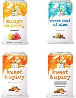 Good Earth Tea, 4 Flavor Variety Pack, 18 Tea Bags, 4 Count (Packaging May Vary)