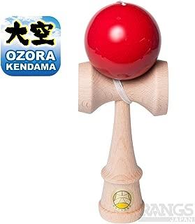 日本けん玉協会認定 New 競技用けん玉「大空」単色 赤 国産品 (OZORA KENDAMA)