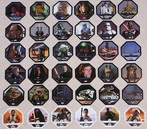 Rewe Star Wars Cosmic Shells ALLE 36 NORMALEN Cosmic Shells Karten