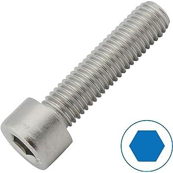 50 St/ück - DIN 912 ISO 4762 M3x25 - Zylinderschrauben mit Innensechskant Zylinderkopfschrauben SC912 aus rostfreiem Edelstahl A2 V2A - Teilgewinde