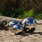 Köhko Sfera Decorativa 3er-Set lucidata in Acciaio Inossidabile di Alta qualitá, Sfera da Giardino ø 5-7-9 CM