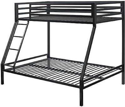 Amazon Com Costzon Twin Over Full Metal Bed Metal Bunk Bed Frame
