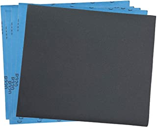 320 Grit Dry Wet Sandpaper Sheets by LotFancy - 9 x 11