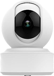 SMARSECUR® TY-F7 Cámara de Seguridad WiFi,360° de con visión Nocturna Detección de Movimiento Monitor de bebé Infrarroja Audio bidireccional Funciona (720P Compatible con Amazon Alexa)