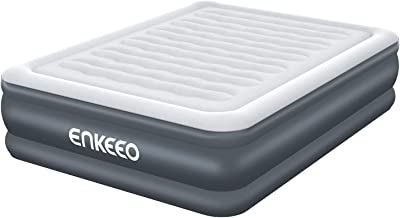 ENKEEO Air Mattress Queen Size, Inflatable Blow up Bed with Built-in Electric Pump for Easy and Quick Use Suitable for Indoor Recreation and Outdoor Camping