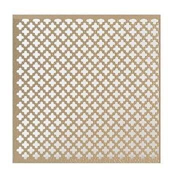 M-D Building Products 56016 .020-Inch Thick 1 2-Feet Cloverleaf Aluminum Sheet Albras