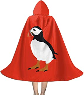Puffin Bird Kids Hooded Cloak Lovely Graphic Christmas Halloween Cosplay Costume Cape