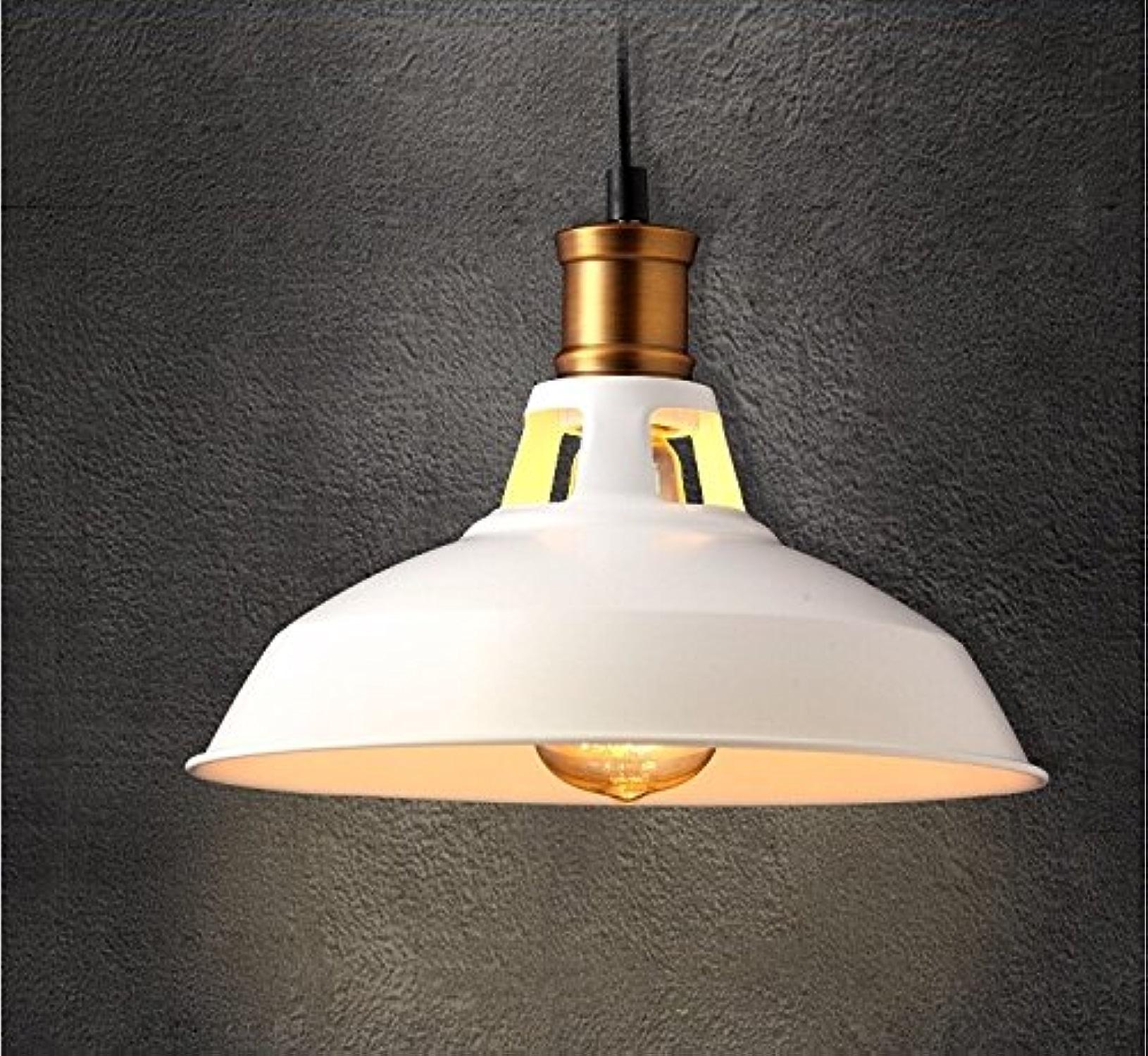 SJUN Style Loft Escalier Salon Chambre Industrielle Lanterne Créatrice Country Américain Lustre D'éclairage,Blanc-39 Cm