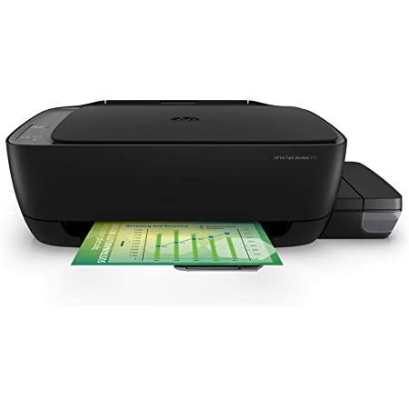 HP Ink Tank 410 WiFi Colour Printer, Scanner and Copier for Home/Office,High Capacity Tank (4000 Black and 8000 Colour),Low Cost per Page(10paise for B/W and 20 Paise for Colour), Borderless Print